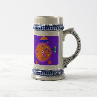 retro alarmclock stein mug