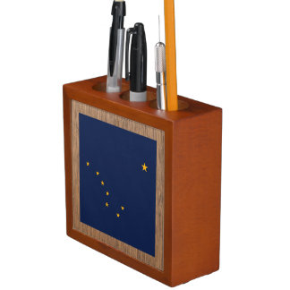 Retro Alaska Flag Pencil/Pen Holder