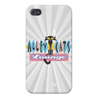 retro alley cats lounge sign case for iPhone 4