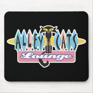 retro alley cats lounge sign mouse pad