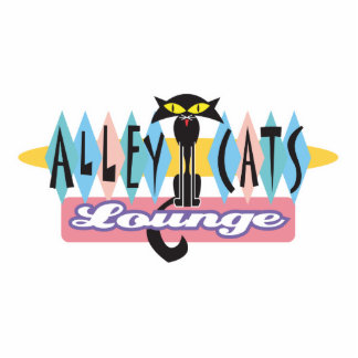 retro alley cats lounge sign cut out