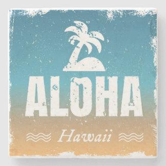 Retro Aloha Hawaii Stone Coaster