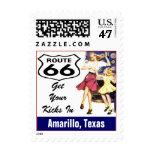 Retro Amarillo Texas Travel Route 66 Vintage Postage