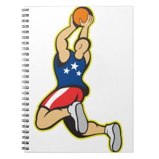 Retro American Basketball Notebook