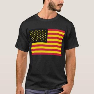 Retro American Flag Black Red Yellow T-Shirt