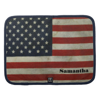 Retro American Flag Smartphone Planner Folio