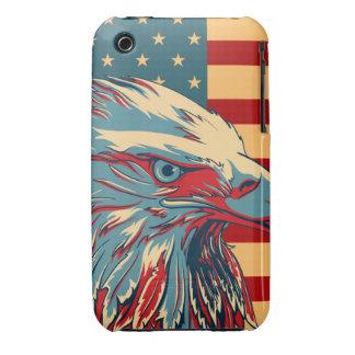 Retro American Patriotic Eagle Flag iPhone 3 Case