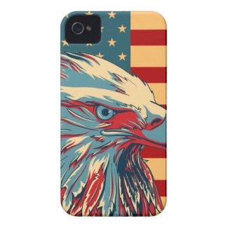Retro American Patriotic Eagle Flag iPhone 4Case Case-Mate iPhone 4 Case