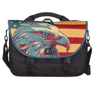 Retro American Patriotic Eagle Flag Laptop Bag