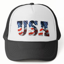 RETRO AMERICAN TRUCKER HAT - 3D USA Patriotic Cap