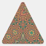 Retro anaranjado suave pegatina triangular