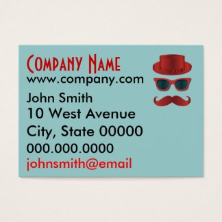Retro and Hipster, Sunglasses & Mustache Business Card