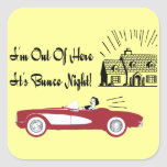 Retro and Vintage Bunco Red Convertible Sticker