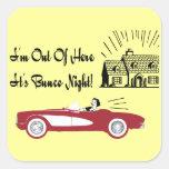 Retro and Vintage Bunco Red Convertible Sticker