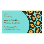 Retro Animal pattern profile cards Business Card Template