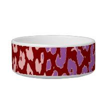 Retro animal print texture of leopard 4 bowl