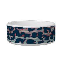 Retro animal print texture of leopard 6 bowl
