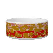 Retro animal print texture of leopard 8 bowl