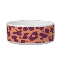 Retro animal print texture of leopard bowl