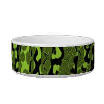 Retro animal print texture of leopard (lime green) bowl