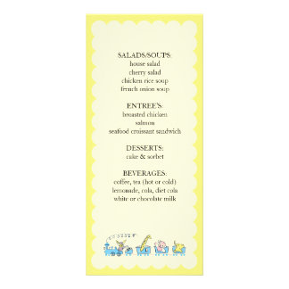Retro Animal Train  |  Baby Shower Insert Rack Card