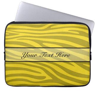 Retro animal zebra print 12 laptop sleeve