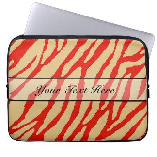 Retro animal zebra print 16 computer sleeve