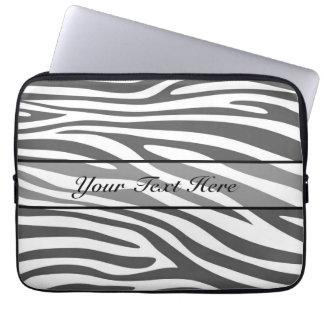 Retro animal zebra print 3 laptop sleeve