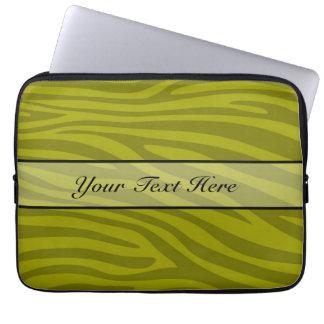 Retro animal zebra print computer sleeve