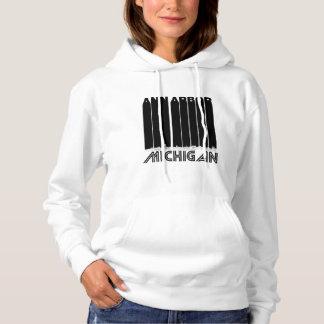 Retro Ann Arbor Michigan Skyline Hoodie
