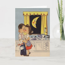 Retro Anniversary Greeting Card