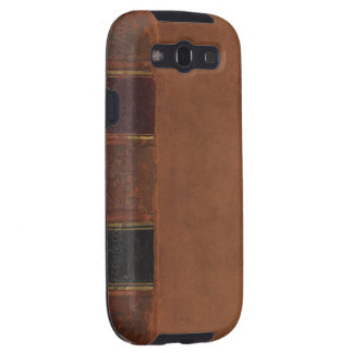 Retro Antique Book, faux leather bound brown Samsung Galaxy SIII Cases