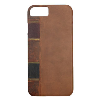 Retro Antique Book, faux leather bound brown iPhone 7 Case