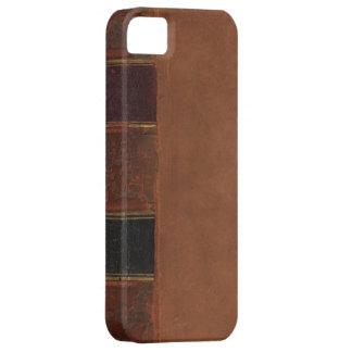 Retro Antique Book, faux leather bound brown iPhone SE/5/5s Case