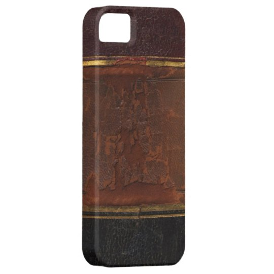 Retro Antique Book, faux leather bound brown iPhone SE/5/5s Case