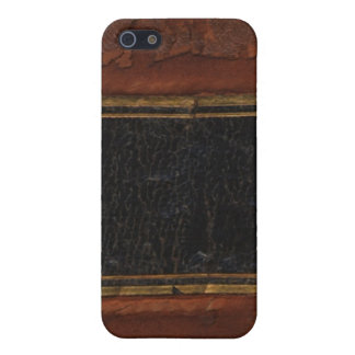 Retro Antique Book, faux leather bound brown iPhone SE/5/5s Cover