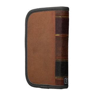 Retro Antique Book, faux leather bound brown Planners