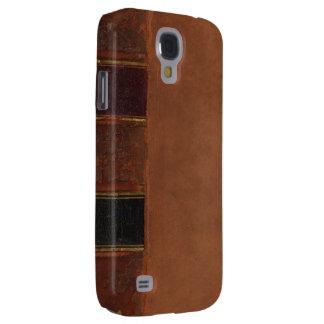 Retro Antique Book, faux leather bound brown Samsung S4 Case