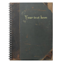 Retro antique canvas book cover, leather bound