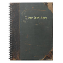 Retro antique canvas book cover, leather bound