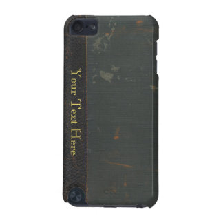 Retro antique canvas book cover, leather bound iPod touch (5th generation) case