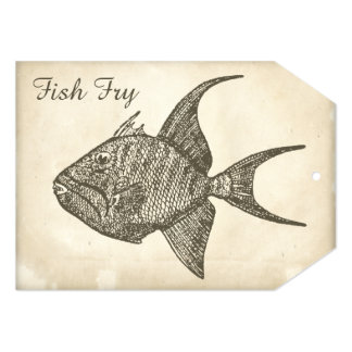 Retro Antique Paper Fish Fry 5x7 Paper Invitation Card