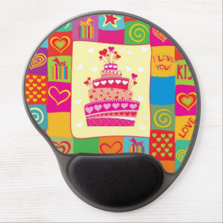 Retro Any Occasion Party Pattern Gel Mousepads