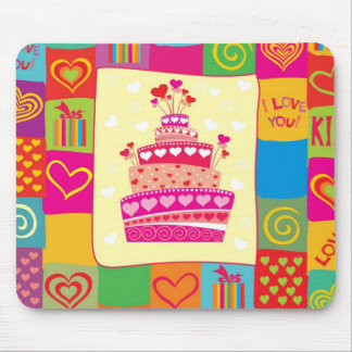 Retro Any Occasion Party Pattern Mousepads