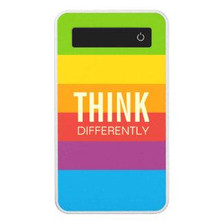Retro Apple Colors Stripes Motivational Quotes Power Bank
