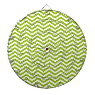 Retro Apple Green Chevron Stripes Dart Boards