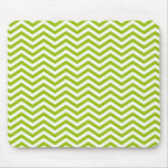 Retro Apple Green Chevron Stripes Mouse Pad