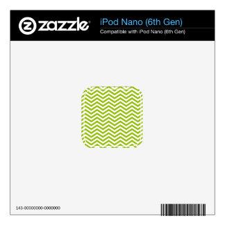 Retro Apple Green Chevron Stripes Skins For iPod Nano