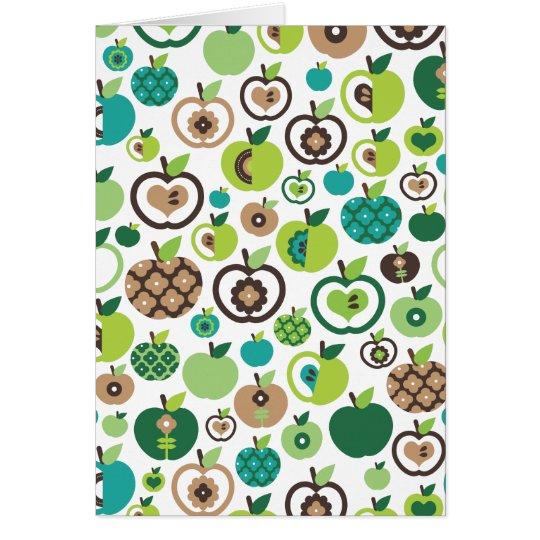 Retro apple pattern get well card (blanco inside)