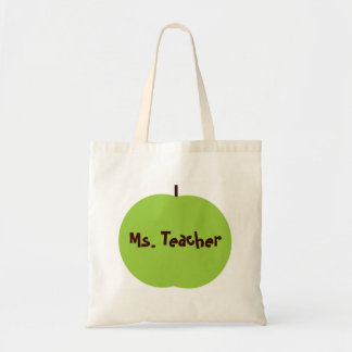 Retro Apple Persoanlized Teacher Gifts Canvas Bags